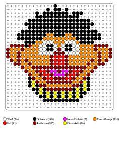 Bügelperlen Vorlagen von Sesamstrasse zum Herunterladen und Ausdrucken