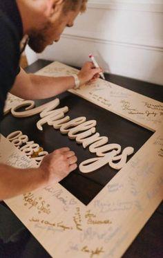 ideas diy wedding backdrop reception website for 2019 Rustic Wedding Guest Book, Wedding Book, Guest Book Ideas For Wedding, Diy Guest Books, Wedding Photo Guest Book, Diy Spring Weddings, Unique Weddings, Trendy Wedding, Wedding Ideas 2018