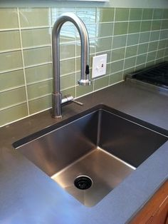 """UltraClean 1/2"""" Radius Undermount Kitchen Sinks by Create Good have a seamless, perfectly formed drain. This UltraClean Single Bowl Sink is perfect for families desiring the highest sanitary standards all the way to the drain."""