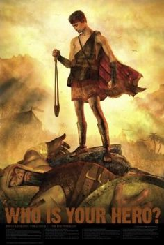 "Who Is Your Hero? Christian Bible Hero Poster - 24x 36 - ""David & Goliath"" - Would be a Great Movie Poster!"