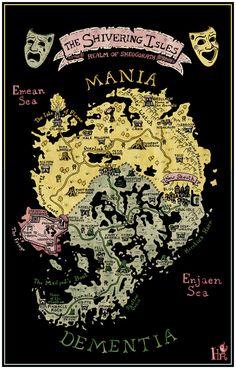 Shivering Isles,Oblivion,The Elder Scrolls,фэндомы,hlarosa,карта