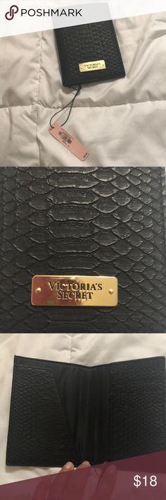 🆕 New Victoria's Secret passport holder New, black snake skin print with gold hardware Victoria's Secret Bags Wallets