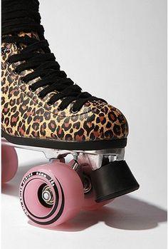 leopard roller skates ! does it get better then that !