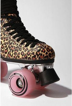leopard roller skates ! does it get better then that !