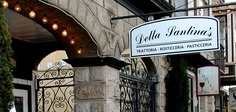 Authentic Italian Food, Great Atmosphere: Della Santina's in Sonoma, CA. Ask for patio seating, and try the gnocci with pesto.