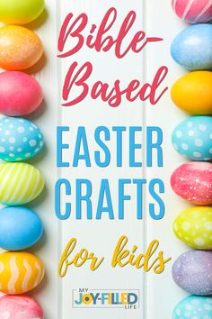 These Christ-centered Easter Crafts will help you and your family focus on the real reason we celebrate Easter - our Lord Jesus Christ. #eastercrafts #heisrisen #christiancraftsforkids