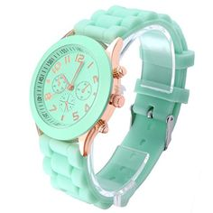 Band material: #silicone strap Case material: Stainless steel Band size: 190 x 20mm(L*W,Case not included) Case size: 39 x 12mm(Dia.*T) Color: Light Green