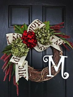 Over 30 different Christmas wreath ideas to choose from when decorating your home for the holidays. Some you can make yourself and some you can just order.