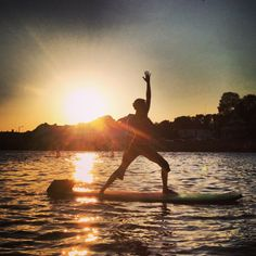 Sunset SUP Yoga every Wednesday at Ocean House Surf! SUP YO!  www.sup-yo.com