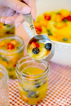 Homemade fruit cocktail cups - they're perfect frozen!