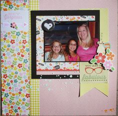 Joni used the Pink Paislee Hey Kid Cre8tive Collection Kit to create this layout. frosted-designs.com