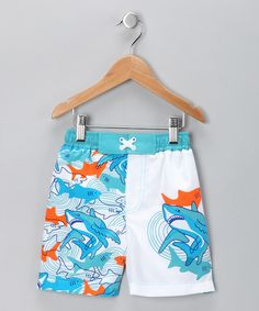 Take a look at this Blue Shark Frenzy Swim Trunks - Infant on zulily today!