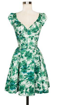 Trashy Diva Liz Mini Dress   Vintage Inspired Dress   Jade Watercolor