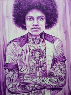 Michael Jackson Covered in Tattoo     Exclusive Tattoo artwork is only available at Body Language Tattoo Shop NYC. Tattoo artwork : Poster: $20 (18 X 24) Canvas Print: $200 (18 X 24)