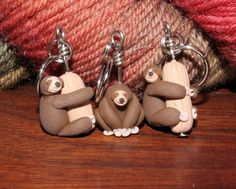 Sloth Stitch Markers (set of 3) by weeones