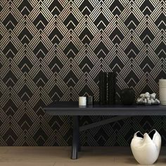Our Art Deco stencil patterns capture the style and opulence of the Art Deco period. Wall stencils help you to create gorgeous accent walls for the fraction of the price of real wallpaper.
