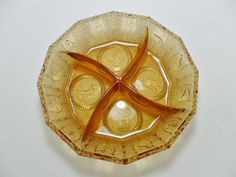 Vintage Imperial Amber Glass Zodiac Horoscope by KathiJanes, $16.95
