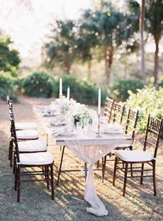 Romantic wedding table: http://www.stylemepretty.com/2014/02/10/rustic-chic-australian-shoot-at-gurragawee/ | Photography: Feather & Stone - http://featherandstone.com.au/