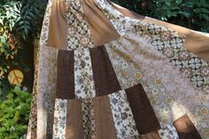 Fall Inspired Hippie Patchwork Skirt OOAK Festival by frans2hands
