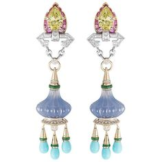 Van Cleef & Arpels Ballet Précieux collection earrings.