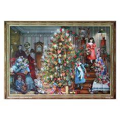 Family Christmas Victorian Style Advent Calendar