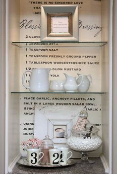 What a great idea for the empty wall nook or bookshelf.  Maybe you could put one of your favorite recipes or better yet one of your grandmothers famous deserts recipes.