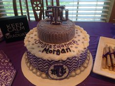 Tarleton State University cake! Even has my name on it!!! Lol
