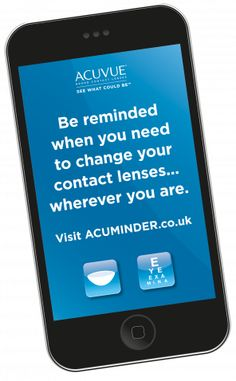 4ec24f57b0 ACUMINDER® - be reminded when you need to change your contact lenses.  Galaxy Phone