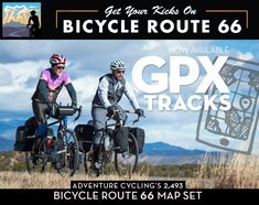 Adventure Cycling offers digital data you can download and use on a GPS device, smartphone, or tablet as well as an app for your smartphone. Use them with the paper maps of the Adventure Cycling Route Network to improve