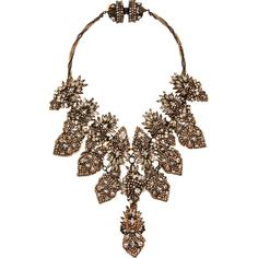 Erickson Beamon Crystal Bette Davis Eyes Bib Necklace discovered on Fantasy Shopper £558.35 #fashion #style