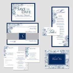 Paisley Wedding Invitation  annettewardstudio: wedding