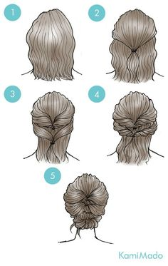 Simple everyday hairstyles for short hair- Einfache Alltagsfrisuren für kurzes Haar Simple everyday hairstyles for short hair hair it Yourself - Short Curly Weave Hairstyles, Up Hairstyles, Pretty Hairstyles, Curly Hair Styles, Short Hair Styles Easy, Short Haircuts, Buns For Short Hair, Wedding Hairstyles For Short Hair, Braided Updo For Short Hair