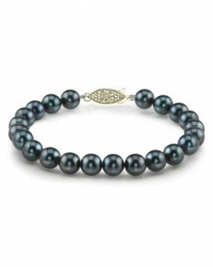 """14K Gold 7.5-8.0mm Japanese Akoya Black Pearl Bracelet The Pearl Source. $409.00. High Quality with """"Very High"""" luster stunning pearl bracelet.. Every purchase comes in an elegant gift box designed to showcase your beautiful pearls and protect them.. Newest addition to our pearl jewelry collection."""