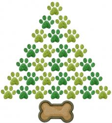 A dog-lover Christmas tree!  8.97 inches H x 8.17 inches W