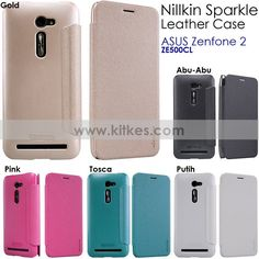 Nillkin Sparkle Leather Case ASUS Zenfone 2 ( ZE500CL - 5.0 Inch ) - Rp 125.000 - kitkes.com Asus Zenfone, Leather Case, Nintendo, Sparkle, Phone, Cover, Glass, Leather Pencil Case, Telephone