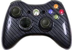 Amazon.com: Custom Xbox 360 Controller - Black Silver Carbon Fiber: Video Games #xbox360controller #customxbox360controller #moddedxbox360controller #customcontroller #moddedcontroller