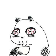 【一日一大熊猫】2016.9.28 カフェイン中毒になりそうなくらい コーヒー飲んでます。 効果はあやしいけど眠気覚しとしても飲んでるけど 素直に寝たほうが良いよね。 #パンダ #panda #カフェイン