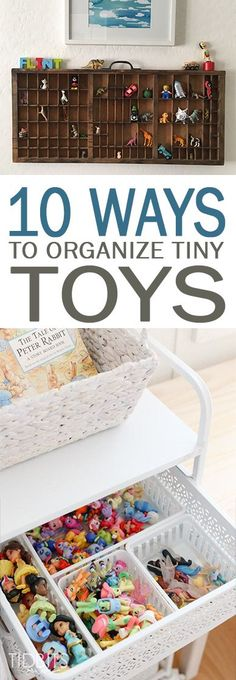 Have a small child in your home that has a TON of little toys that never seem to get picked up, or need some organization inspiration for your playroom or classroom? Check out this post for some easy DIY storage and organization solutions for all of those small toys!