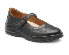 Dr. Comfort Womens SUNSHINE Black Diabetic Extra Depth Marry Jane Velcro Shoe (9.5XW, Black)