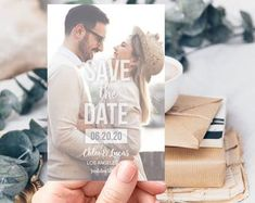 PRINTED Photo Save the Date Card, Save the Date Magnet, Wedding Invitation, Custom Save the Date Cards, Save the Date Postcard – Diy Wedding 2020 Diy Save The Dates, Rustic Save The Dates, Save The Date Magnets, Indian Wedding Invitations, Wedding Envelopes, Wedding Invitation Sets, Save The Date Postcards, Save The Date Cards, Save The Date Templates