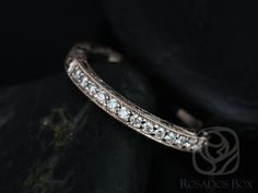 14kt Rose Gold Matching Band to Aurora Hand Engraved Diamonds HALFWAY Band (Other Metals Available)