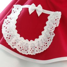 Retro Apron - Wedding Day Bride/Bridal Apron Protect the Dress in Red - Bridal Party + Bridesmaids G Retro Apron, Aprons Vintage, Red Wedding, Wedding Day, Hot Pink Weddings, Sewing Aprons, Stunning Wedding Dresses, Wedding Memorial, Vintage Pink
