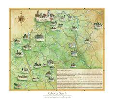 Un aiuto per orientarsi nel Sistema Museale, una bellissima mappa fatta da Rebecca Serchi Geo, Opera, Vintage World Maps, Opera House