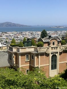 View of San Francisco Bay from Lyon Street steps.