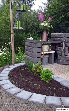 Cabins In The Woods, Dream Garden, Cottage Style, Backyard Landscaping, Outdoor Gardens, Outdoor Living, Landscape, Creative, Plants