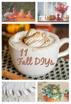 If you're itching to decorate for the fall season and can't wait until Halloween to get crafty, try out some of these DIY projects to get your home in the autumnal spirit!