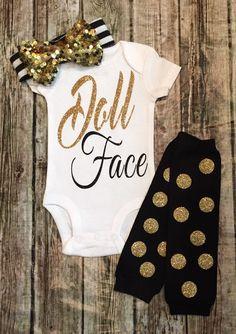 Doll Face Baby Girl Onesie Doll Face Shirt - BellaPiccoli