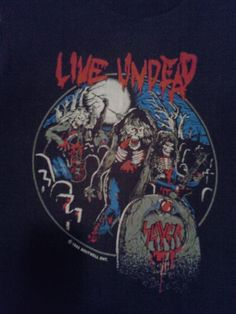 VINTAGE SLAYER LIVE UNDEAD   DEAD AHEAD FALL 1985 T SHIRT (L