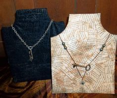 A DIY necklace and earring craft show display from Dollar Store items
