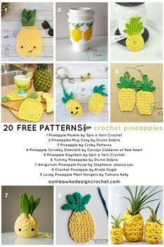 20 FREE Crochet Pineapple PATTERNS an Oombawka Design Crochet Collection #crochet #freepatterns #crochetroundup #crochetpineapples